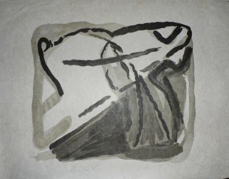 Литография Van Velde - Sans Titre