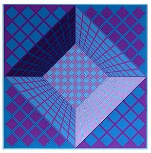 Сериграфия Vasarely - Sans Titre