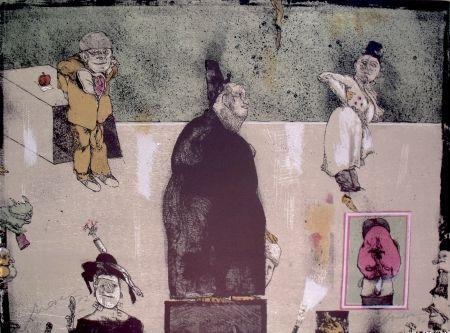 Литография Cuevas - Sans Titre