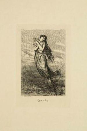 Гравюра Chassériau - Sapho