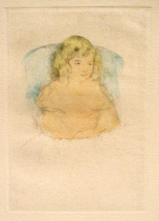 Гравюра Сухой Иглой Cassatt - Sara Smiling (c. 1904)
