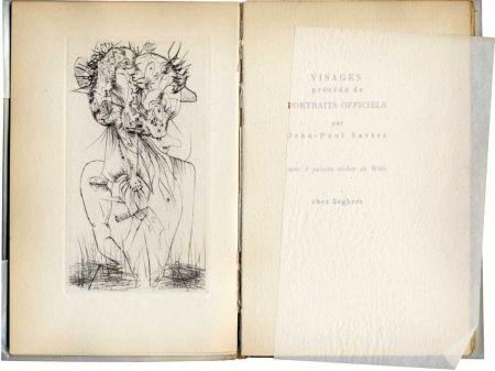 Иллюстрированная Книга Wols - SARTRE (Jean-Paul). Visages.