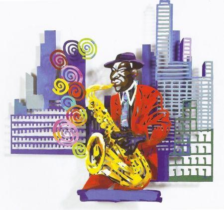Сериграфия Gerstein - Saxophone Player, from Jazz and the City Series