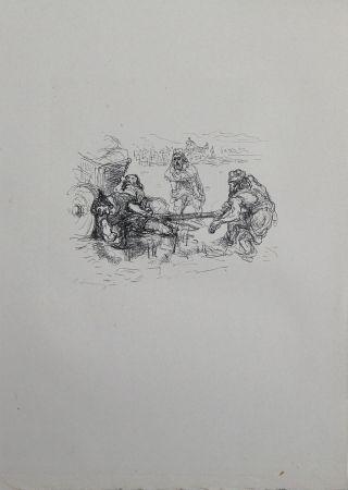 Литография Slevogt - Schmutzarbeit der vornehmen Perser