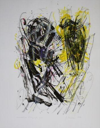 Литография Czichon - Schwarz - Gelb / Black - Yellow
