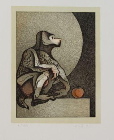 Литография Bodini - Scimmietta