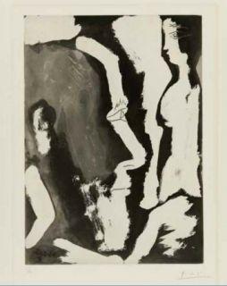 Офорт И Аквитанта Picasso - Sculpteur travaillant à un buste de femme II