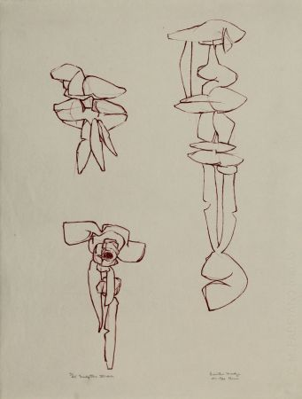 Литография Hadzi - Sculpture Studies