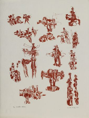 Литография Hadzi - Sculpture Studies V
