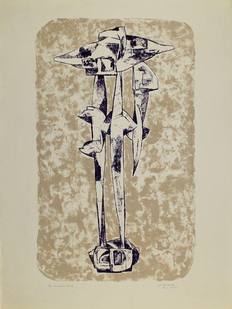 Литография Hadzi - Sculpture Study