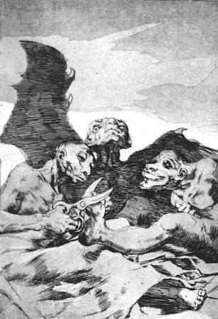 Офорт И Аквитанта Goya - Se repulen