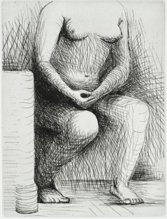 Гравюра Moore - Seated Figure
