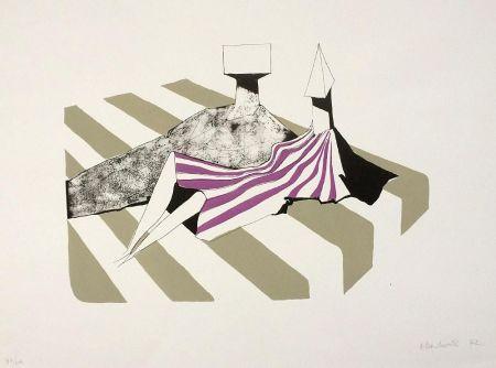 Литография Chadwick - Seated Figures on Stripes II