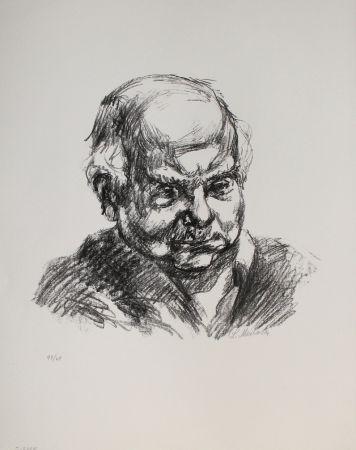 Литография Meidner - Selbstbildnis nach rechts