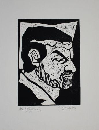 Линогравюра Ruzicka - Selbstbildnis / Self-Portrait
