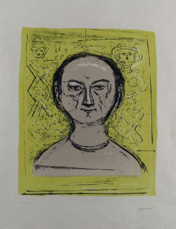 Литография Campigli - Selbstbildnis / Self-Portrait