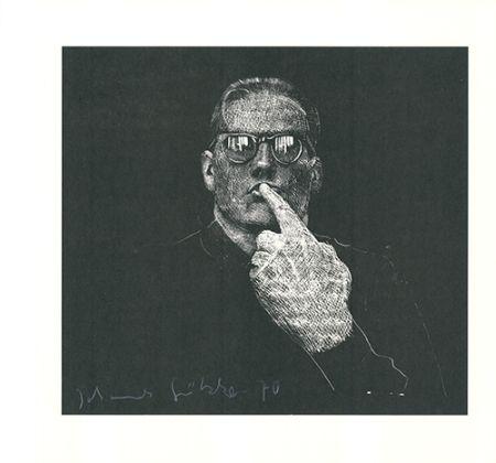 Линогравюра Grützke - Selbstportrait