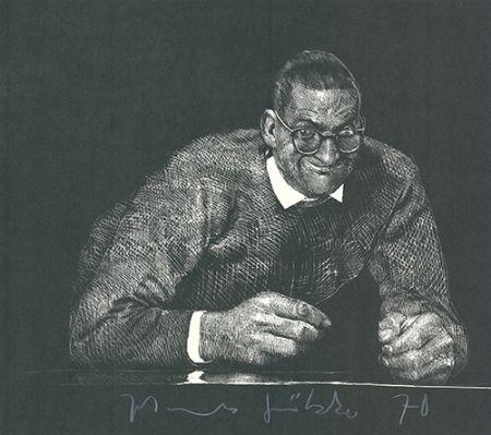 Линогравюра Grützke - Selbstportrait II