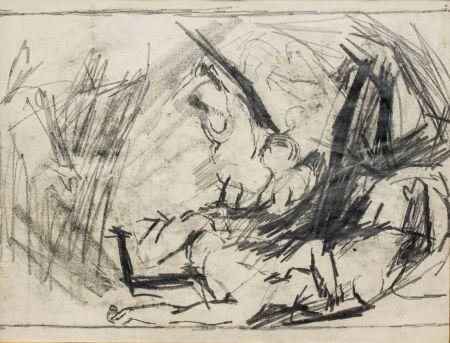 Нет Никаких Технических Auerbach - Self-Portrait and Study of the Brazen Serpent