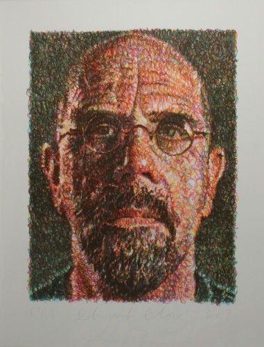 Сериграфия Close - Self Portrait