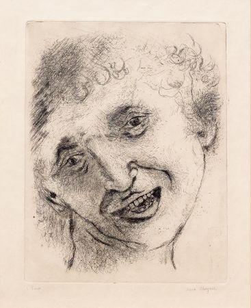 Гравюра Chagall - Self Portrait with a Laughing Expression