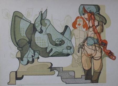 Литография Bodini - Senza titolo