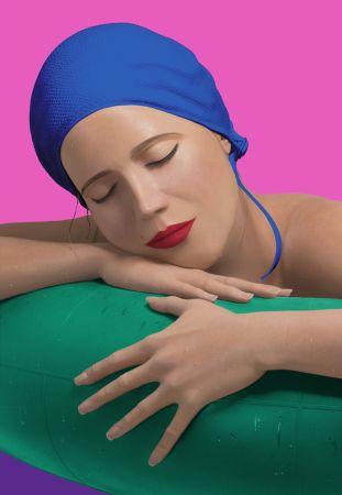 Сериграфия Feuerman - SERENA WITH BLUE CAP