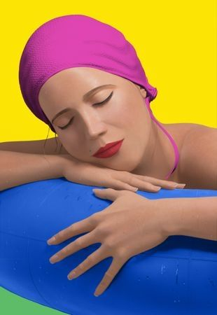 Сериграфия Feuerman - Serena with pink cap