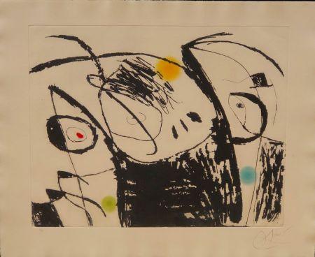 Офорт И Аквитанта Miró - Serie Mallorca nº X
