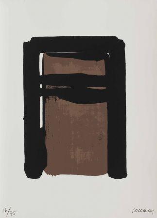 Сериграфия Soulages - Serigraphie no. 10 (from Sur le mur d'en face)