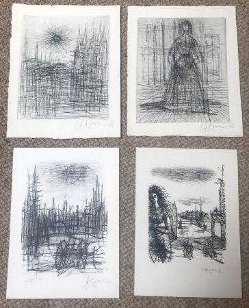 Многоэкземплярное Произведение Carzou - Set of 4 artworks