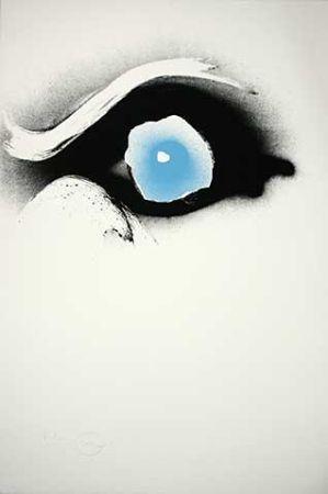 Сериграфия Piene - Seuloeil blau/schwarzes Auge