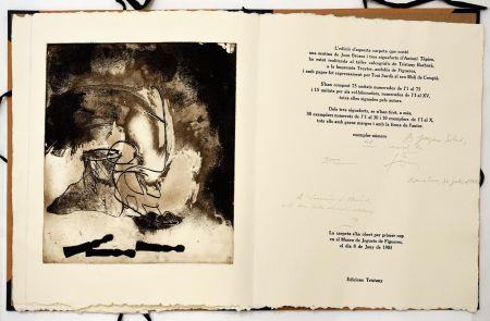 Офорт Tàpies - Sextina en el Museu de Joguets de Figueres