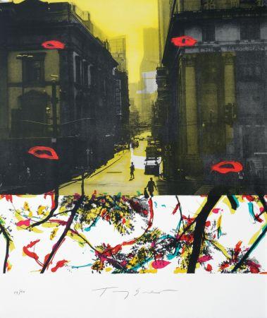 Литография Soulie - Shanghai rue de la Soie