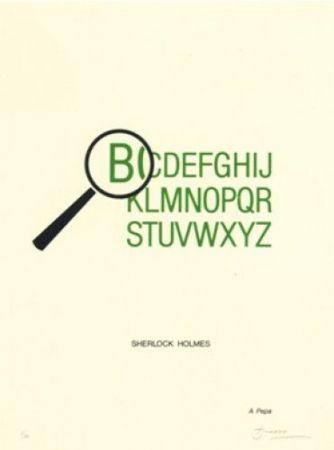Литография Brossa - Sherlock Holmes