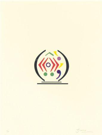 Литография Brossa - Signes 12