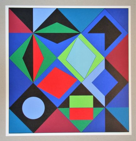 Сериграфия Vasarely - Sikra - 1966