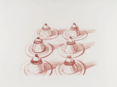 Гравюра Thiebaud - Six Desserts, from Recent Etchings II