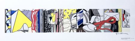 Литография Lichtenstein - Sketch for Greene Street Mural (Hand Signed)
