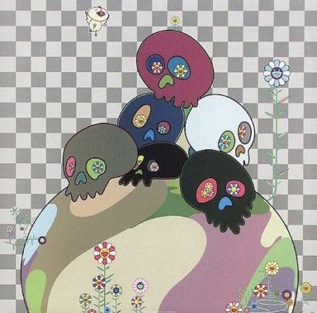 Литография Murakami - Skulls rock