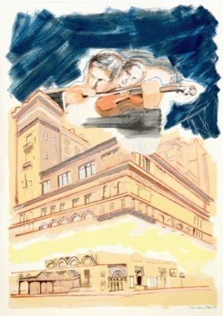 Сериграфия Rivers - Sky Music Over Carnegie Hall