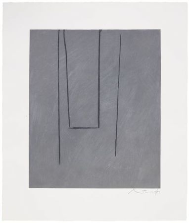 Офорт И Аквитанта Motherwell - Slate Gray Pintura