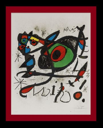 Литография Miró - Sobreteixims