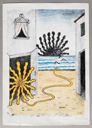 Литография De Chirico - Sole e mare