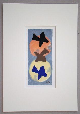 Литография Braque (After) - Soleil et Lune I.