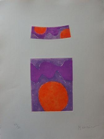 Офорт И Аквитанта Manessier - Soleils oranges