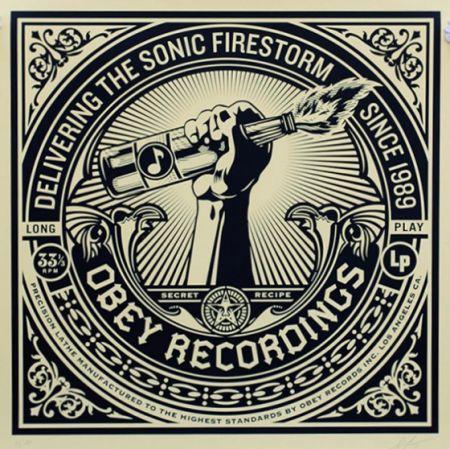 Сериграфия Fairey - Sonic Firestorm