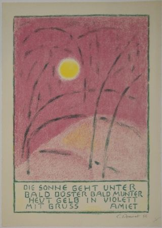 Литография Amiet - Sonnenuntergang