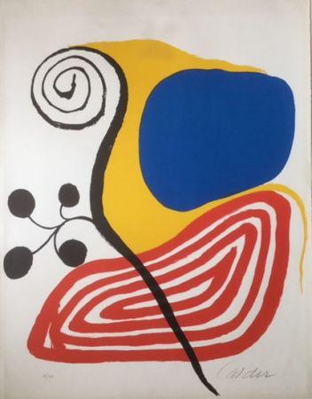 Литография Calder - Spiral Composition