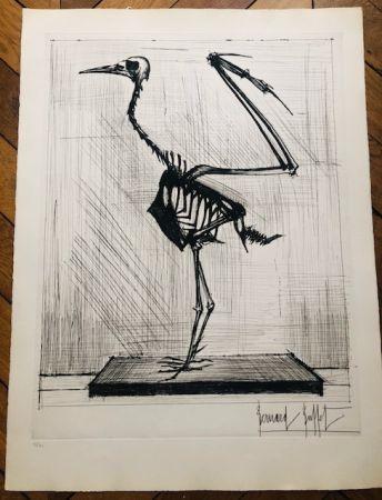 Гравюра Buffet - Squelette d'oiseau